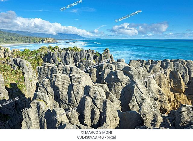 Pancake rocks Punakaiki, West Coast, South Island, New Zealand