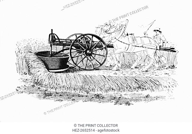 'Reaping Machine Invented by James Smith of Deanston', 1816, (1904). From Social England, Volume VI, edited by H.D. Traill, D.C.L. and J. S. Mann, M.A