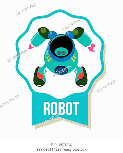 Robot concept with machine icons design, vector illustration 10 eps graphic