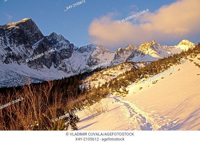 """""""The scenery in the valley """"""""""""""""Dolina Zeleneho plesa"""""""""""""""", High Tatras."""""""