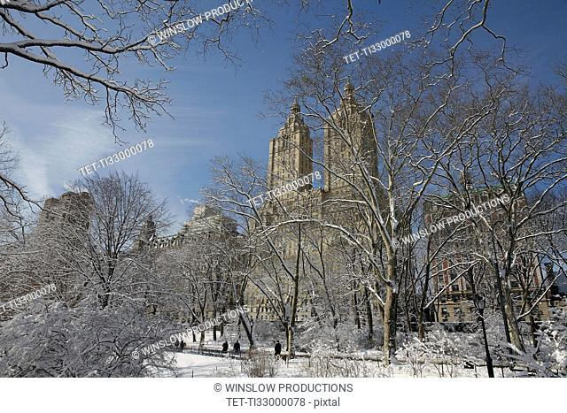 View of San Remo apartments and Central Park