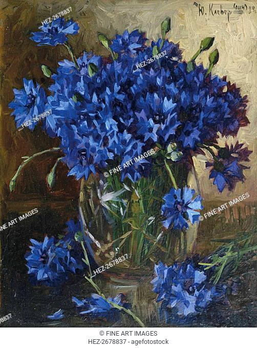 Bouquet of cornflowers, 1935