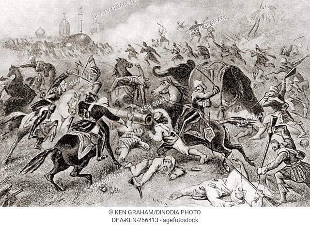 defeat of Tatya Tope by the British at Cawnpore, India