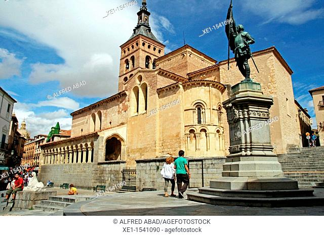 Church of St. Martin, Romanesque, statue of Juan Bravo, Segovia, Spain