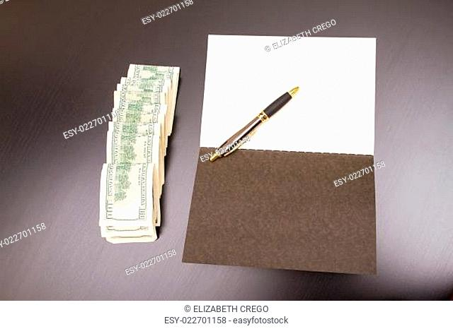 Dollars with a copybook
