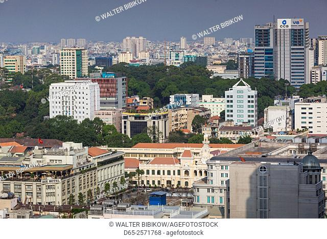 Vietnam, Ho Chi Minh City, elevated skyline view