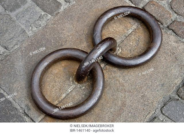 Steel rings for ship mooring