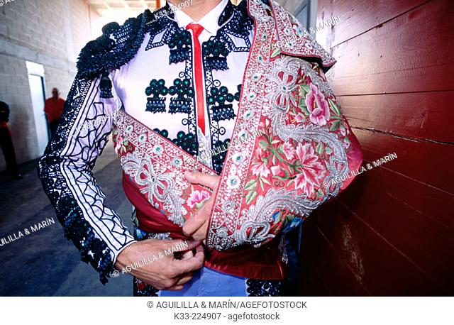 Bullfighter dressed