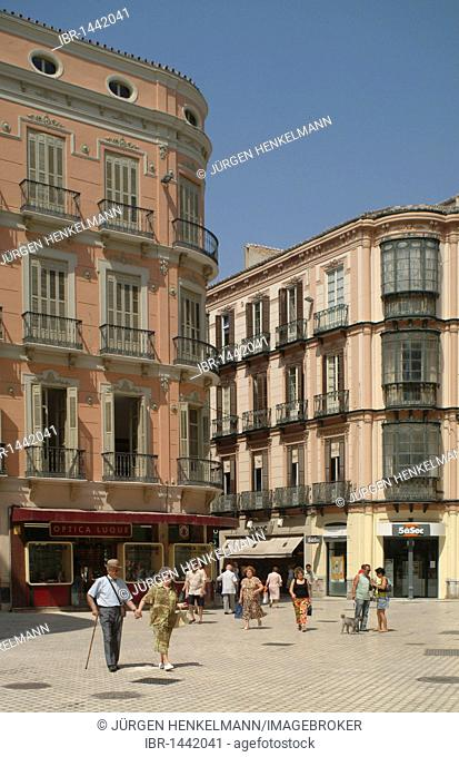 Alley in the historic centre of Malaga, Andalusia, Costa del Sol, southern Spain, Spain, Europe
