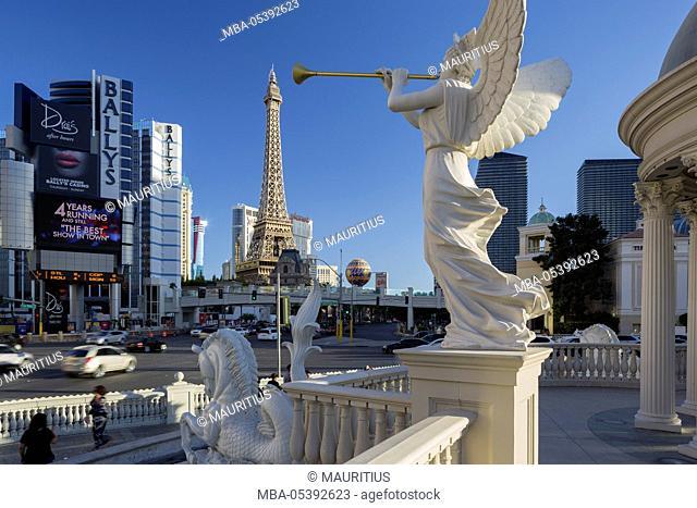 Ceasars Palace hotel, Eiffel Tower, Strip, South Las Vegas boulevard, Las Vegas, Nevada, USA