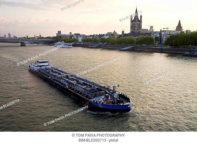 Barge on German river