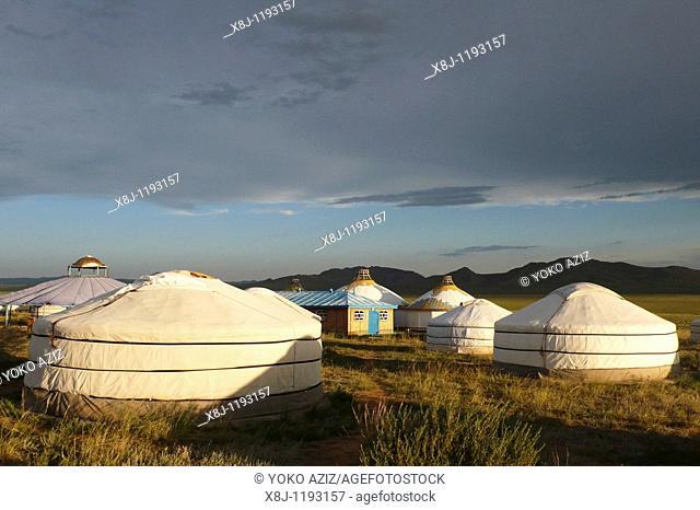 Traditional house, ger, Mongolia