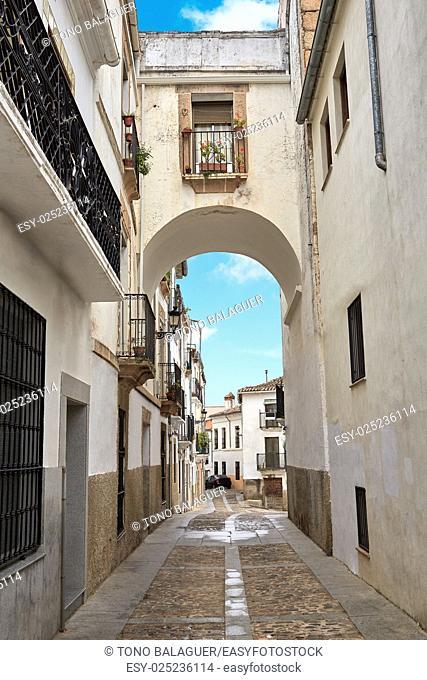 Caceres Arco de Espana Spain arch in Extremadura
