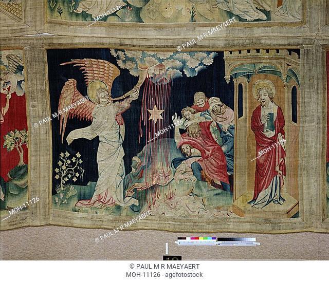 La Tenture de l'Apocalypse d'Angers, Troisième trompette : l'absinthe 1,55 x 2,26m, Der Dritte Engel bläst die Posaune: Wasser wird zu Wermut