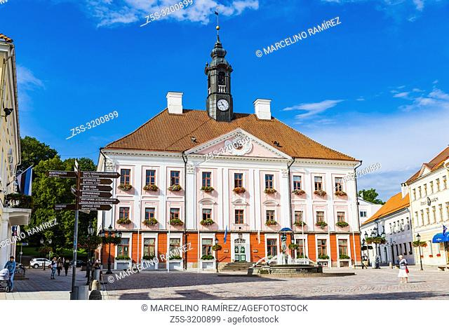 Town Hall Square. Tartu, Tartu County, Estonia, Baltic states, Europe
