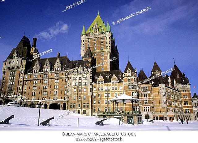 Frontenac castle, Quebec city. Quebec, Canada
