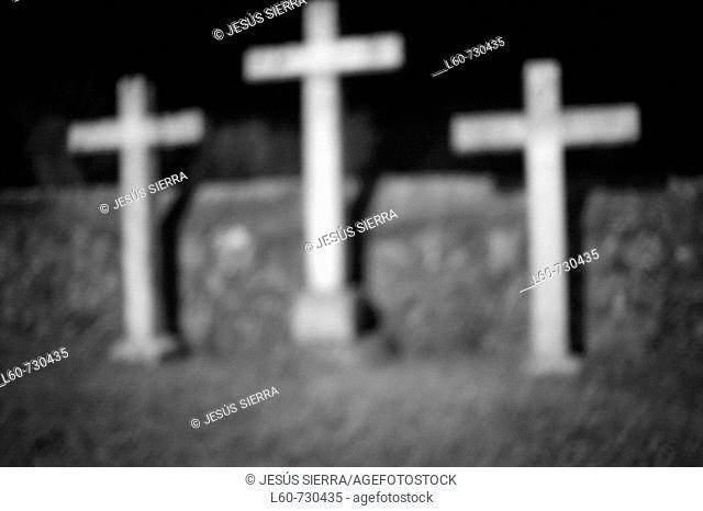 Crosses, Valverde de la Vera. Caceres province, Extremadura, Spain