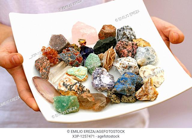Varied minerals