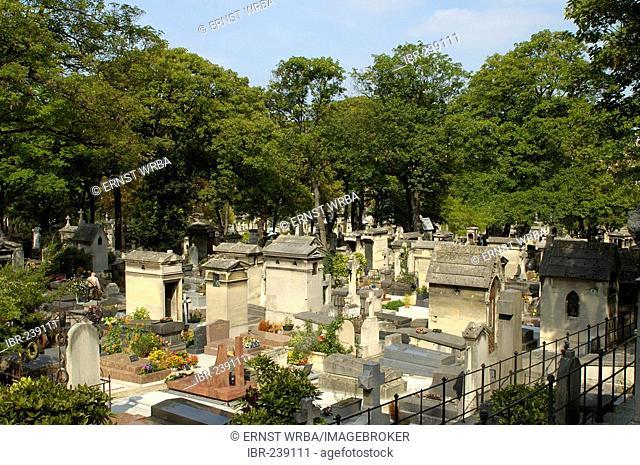 Montmartre Cemetery, Paris, Ile-de-France, France