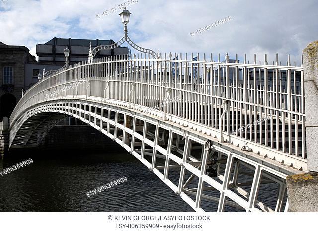 Ha'penny Bridge, River Liffey, Dublin; Ireland