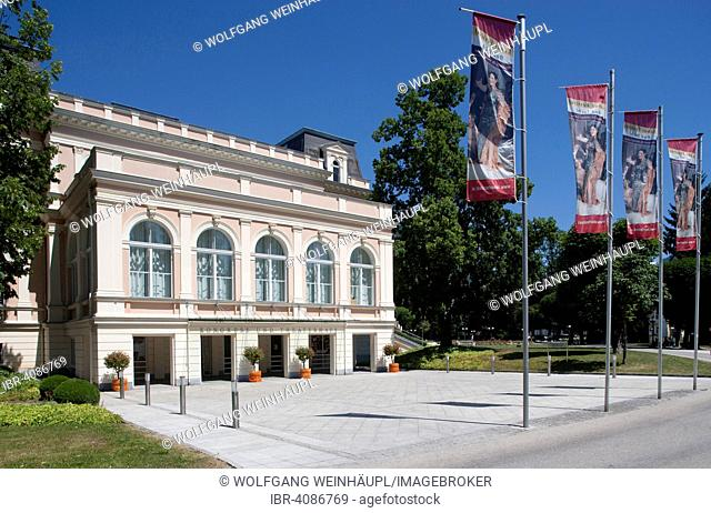Congress venue and theatre in the spa gardens, Bad Ischl, Salzkammergut, Upper Austria, Austria