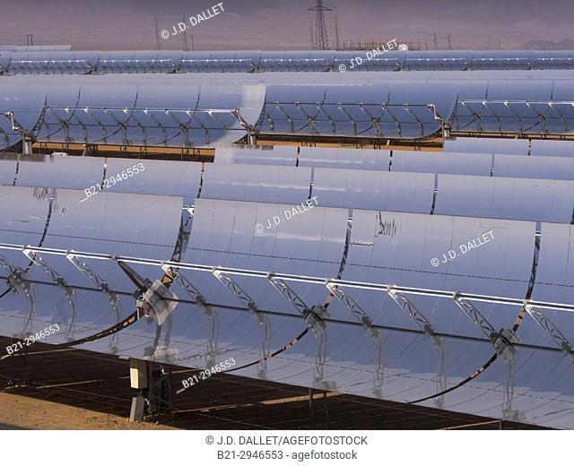 """Morocco, Ouarzazate, """"""""Noor I"""""""" solar Energy plant, world largest"""