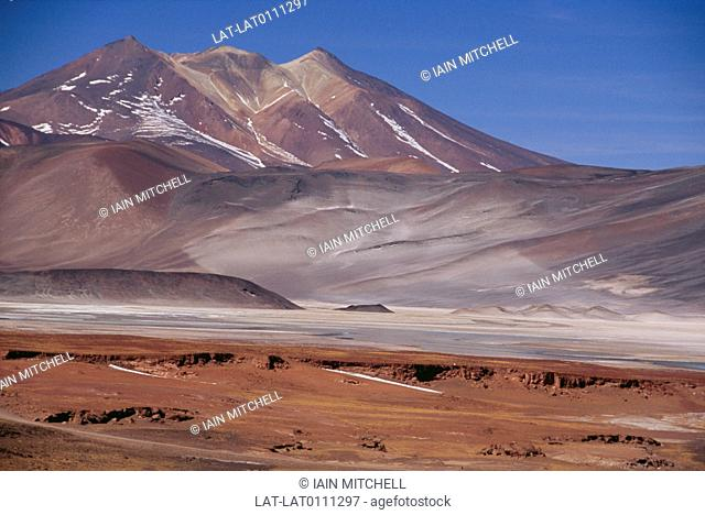The Atacama Desert is a virtually rainless plateau in South America the 600 miles between the Andes mountains and the Pacific Ocean