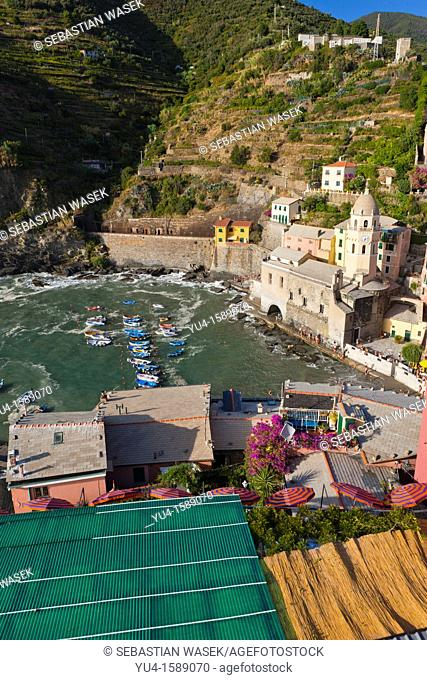 Vernazza, Cinque Terre National Park, UNESCO World Heritage Site, Liguria, Italy, Europe
