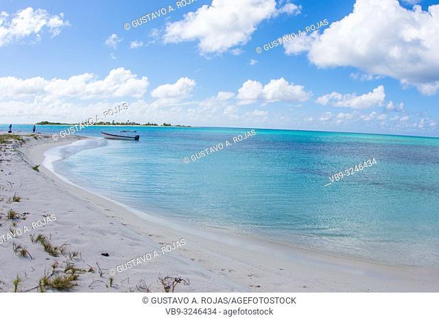 DOS MOSQUICES beach View Archipelago Los Roques Venezuela, Atoll