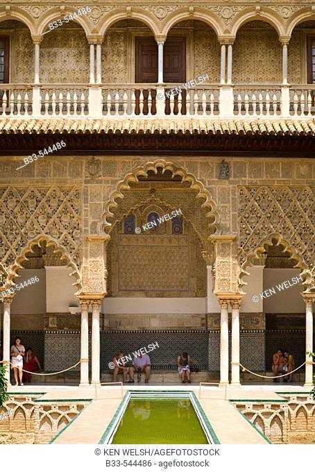 Seville Spain Real Alcazar Patio de las Doncellas