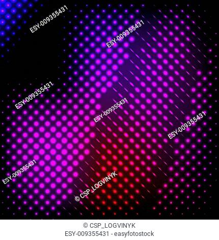 Abstract background colorful lights on black,