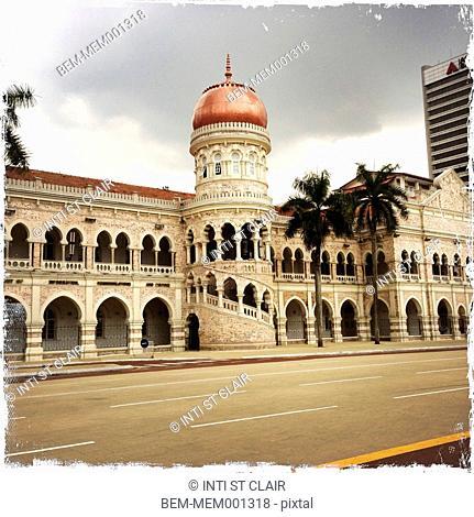 Ornate dome and archway in Kuala Lumpur, Malaysia