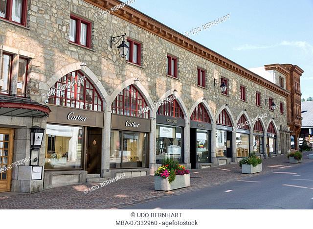 Jet Set Center, Kulmhotel, St. Moritz, Upper Engadin, Engadin, Canton Grisons, Switzerland