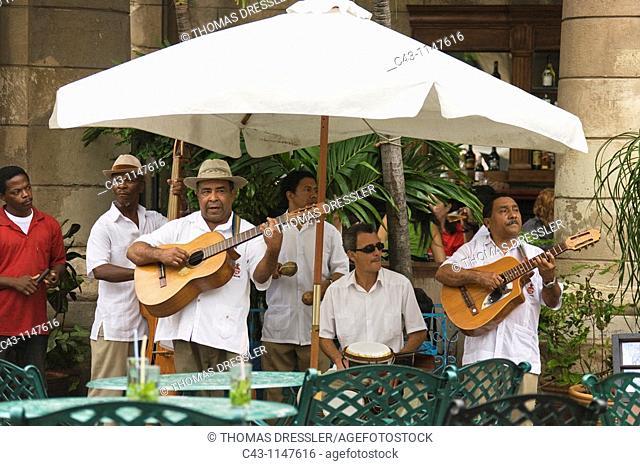 Cuba - Musicians at a restaurant in Habana Vieja, the Old Town of Cuba's capital Havana