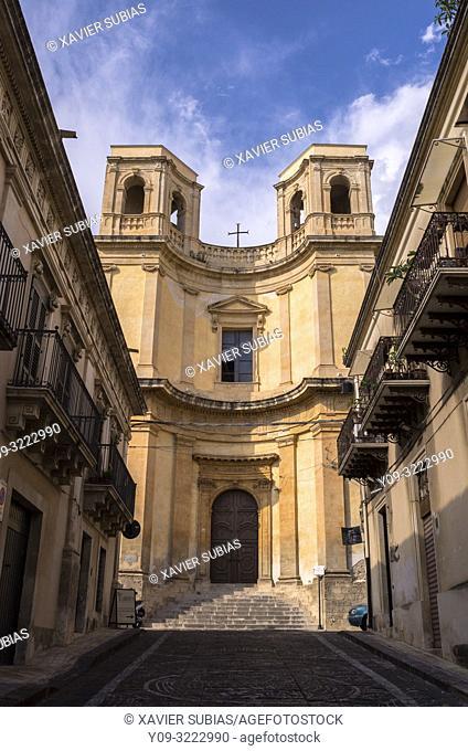 Church of Ðœontevergini, Noto, Siracusa, Sicily, Italy