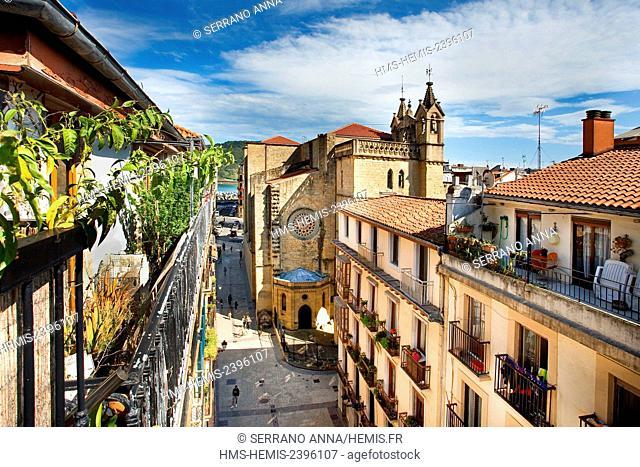 Spain, Basque Country, Guipuzcoa province (Guipuzkoa), San Sebastian (Donostia), European capital of culture 2016, San Vicente Church