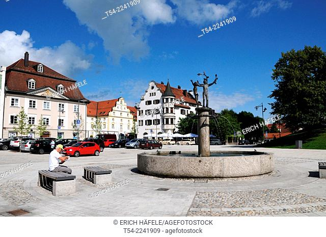The Stiftsplatz in Kempten