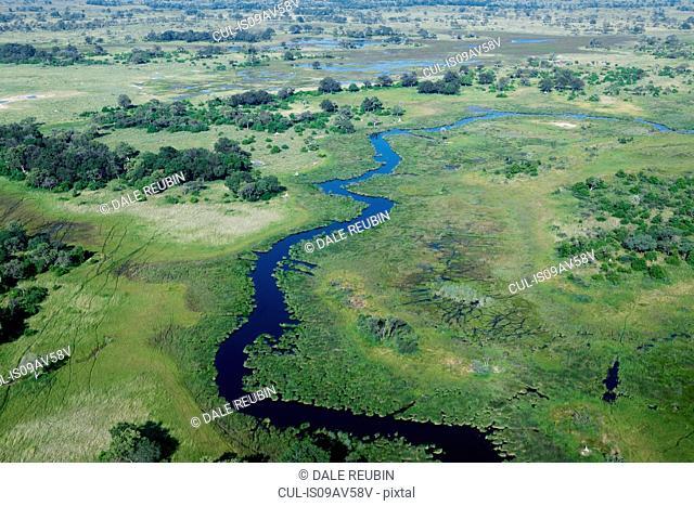 Okavango Delta tributary, Okavango Delta, Botswana