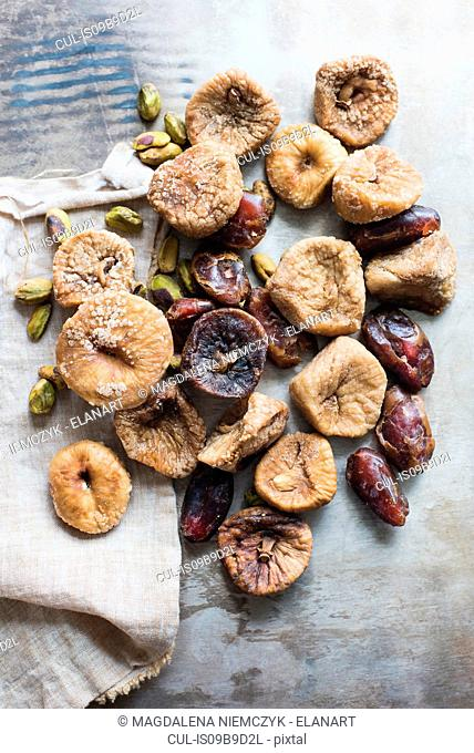 Dried fruit and nuts, close-up