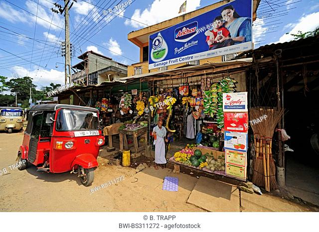 market with Tuk Tuk, Sri Lanka
