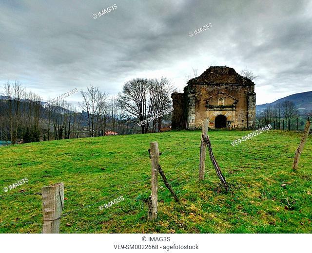 San Cipriano church (XVII century), Infiesto, Asturias, Spain