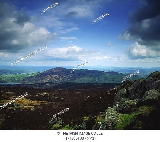 Co Armagh, Camlough Mountain, from Slieve Gullion, Ireland