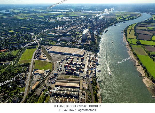 Logport II, logistics, Duisport, Rhine harbour, Duisburg, Ruhr district, North Rhine-Westphalia, Germany