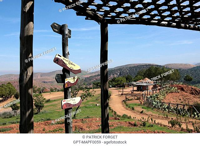 HIKING AND MOUNTAIN BIKING TRAILS, TERRES D'AMANAR NATURE AND ADVENTURE PARK, TAHANAOUTE, AL HAOUZ, MOROCCO
