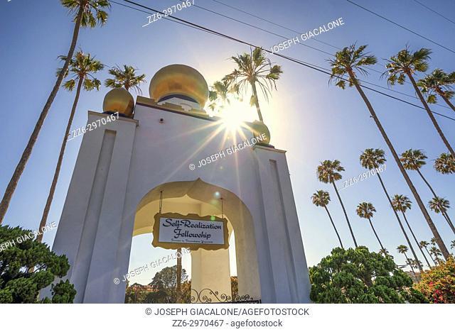 Golden Lotus Dome of the Self Realization Fellowship. Encinitas, California, USA