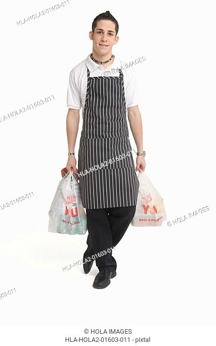 Portrait of food delivery person