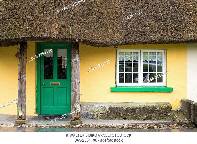 Ireland, County Limerick, Adare, Ireland's Prettiest Village, cottage details