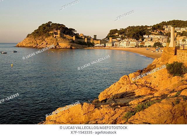 Tossa de Mar Costa Brava  Girona province  Catalonia  Spain