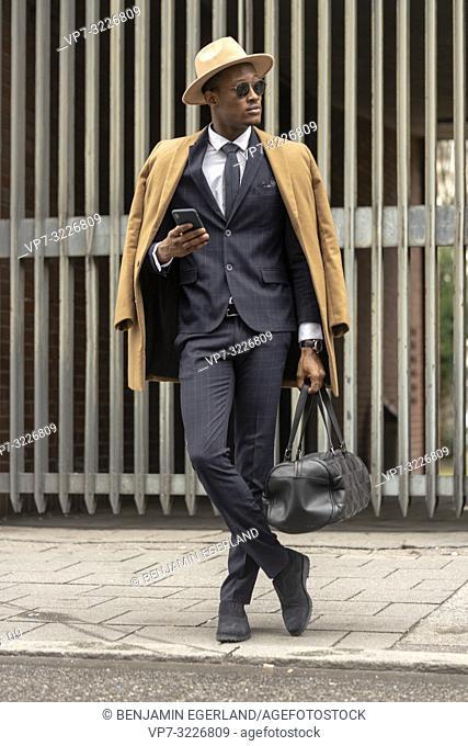 man, suit, fashionable