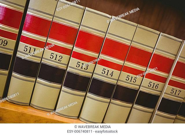 Close up of big books